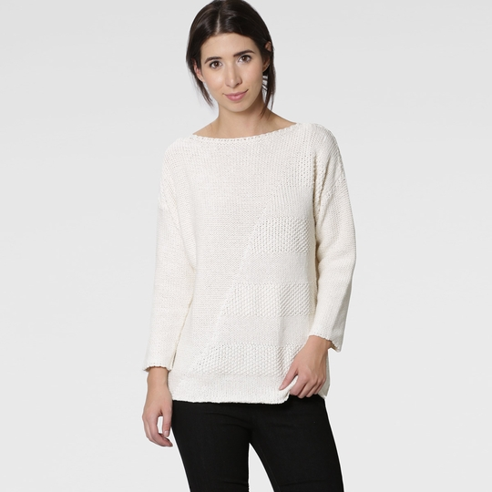 Six Ten Cotton Boatneck Sweater Womens Apparel at Vickerey