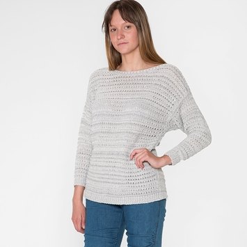 Six Ten La Jolla Pullover in Aluminum/ Winter White