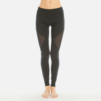 Solow Mesh Cutout Legging in Black