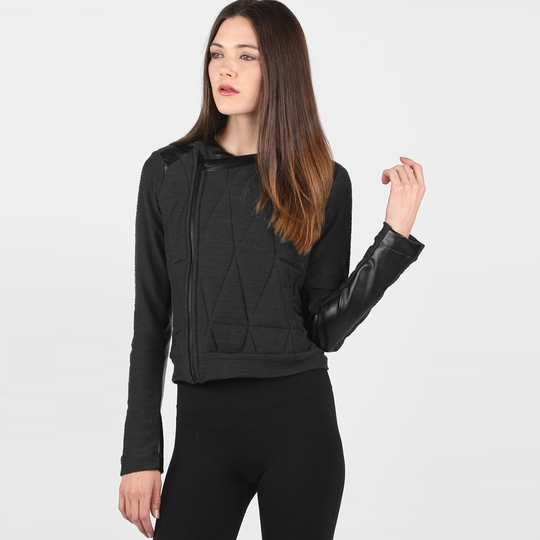 Solow Quilted Moto Jacket ( Steel/Black )
