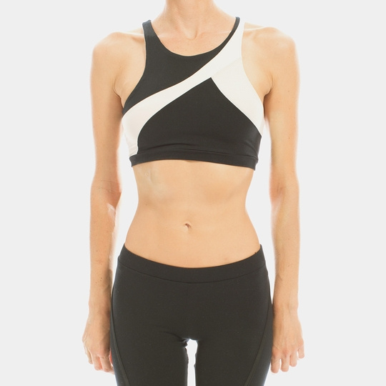 Solow Racer Sports Bra ( Black )