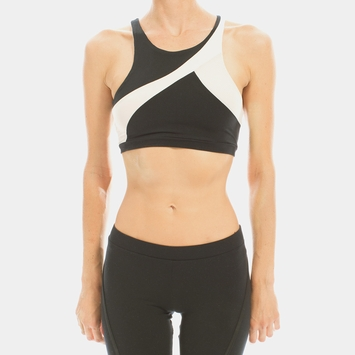 Solow Racer Sports Bra in Black