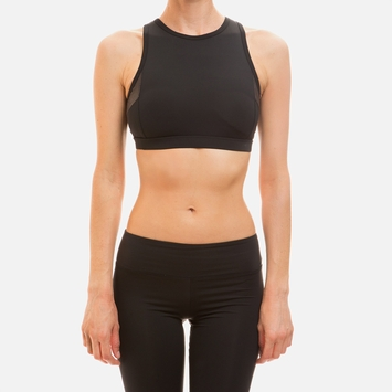 Solow Paneled Sports Bra in Black