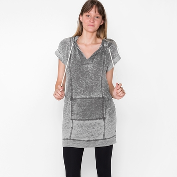 Splendid Burnout Tunic Hoodie in Shadow