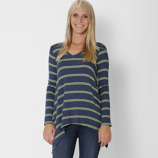 Splendid Double Stripe Top ( Navy/Tennis )