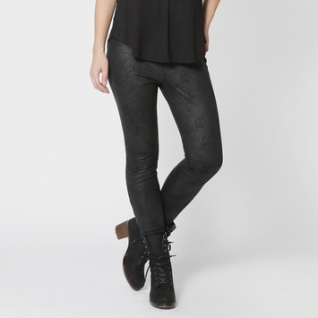 Splendid Hutton Coated Ponte Pant in Black