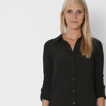 Splendid Rayon Voile Shirt in Black