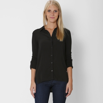 SALE / Splendid Rayon Voile Shirt in Black