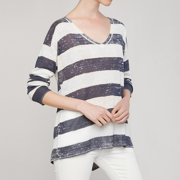 Splendid Southhampton Sweater in Natural/ Navy