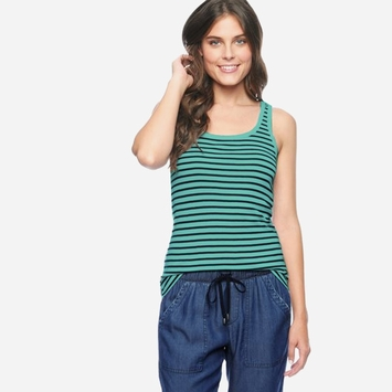 Splendid Venice Stripe Tank Top in Tile Blue