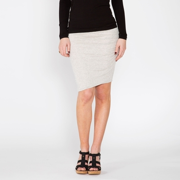 Splendid Winward Micro Stripe Skirt in Heather Grey