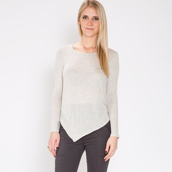 Splendid Micro Stripe Top in Heather Grey