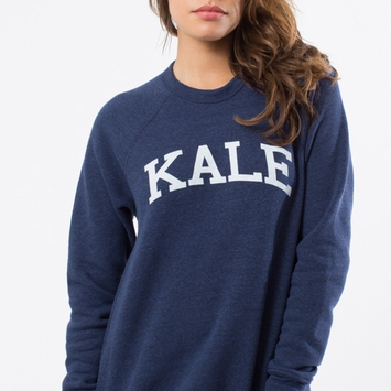 Sub Urban Riot Navy Blue Kale Sweatshirt in Navy/White