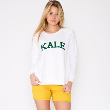 Sub Urban Riot Women's Kale Sweatshirt in White/Green