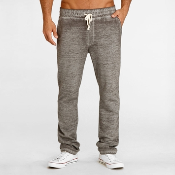 Organic Threads 4 Thought Burnout Fleece Pant in Heather Grey