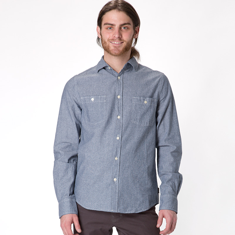 Mens Chambray Shirts Long Sleeve