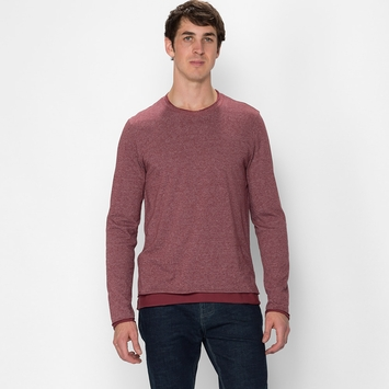 Organic Threads 4 Thought Double Layer Crew in Heather Syrah