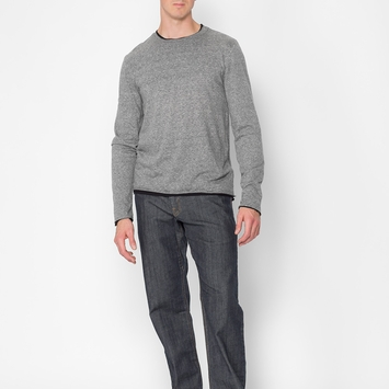 Organic SALE / Threads 4 Thought Double Layer Crew in Heather Charcoal