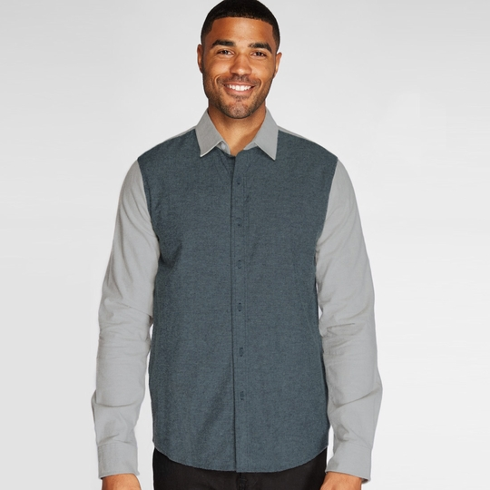 Threads 4 Thought Lightweight Brushed L/S Shirt ( Blue Nights/Smoke Grey )