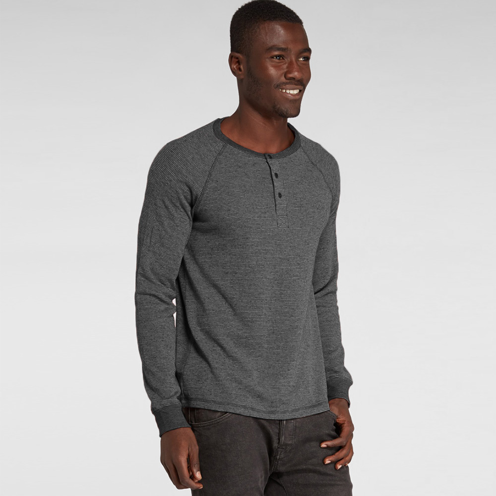 Threads 4 thought long sleeve henley thermal shirt in mens for Men s thermal henley long sleeve shirts