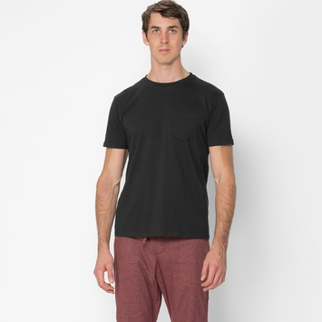 Organic Threads 4 Thought Organic Crew Pocket Tee in Raven