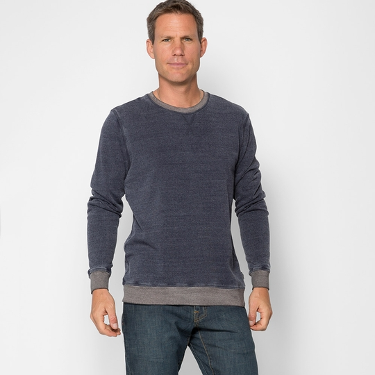 Threads 4 Thought Ringer L/S Crewneck ( Eclipse Blue/Heather Grey )