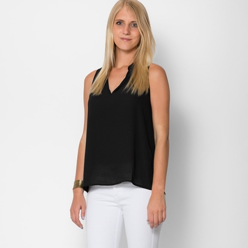 Three Eighty Two Aerin Split V Tank in Black