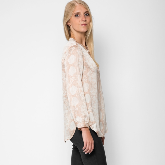 Three Eighty Two Snakeskin Print Blouse ( Jerdon Print )