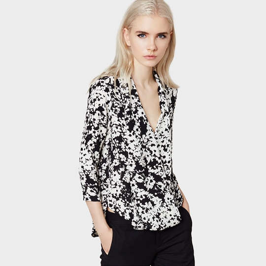 Three Eighty Two Griffin 3/4 Sleeve Surplice Blouse ( Calin Print )