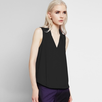 Three Eighty Two Monroe Surplice Top in Black