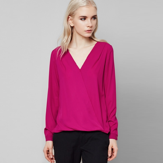 Three Eighty Two Sienna Surplice Blouse ( Orchid )