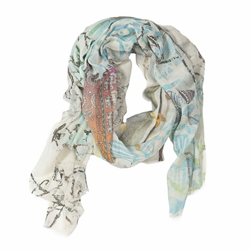 Tilo Printed Scarf in Butterfly