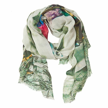 Tilo Printed Scarf in Pigeon