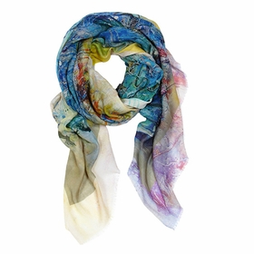 Tilo Printed Scarf in Watercolor