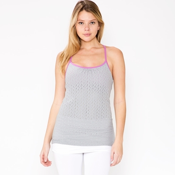 Tonic Ascent Mesh Tank in Mist/Iris Orchid