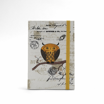 Vintage Owl Pocket Journal