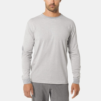 Vuori Ascent Long Sleeve Tee in Natural