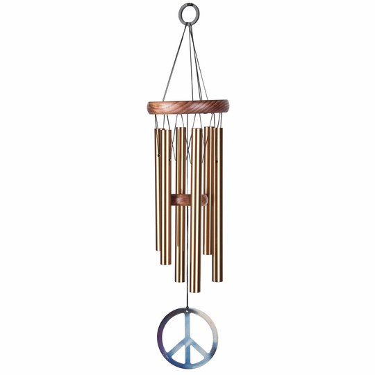 Woodstock Wind Chimes Small Peace Chime ( Bronze )