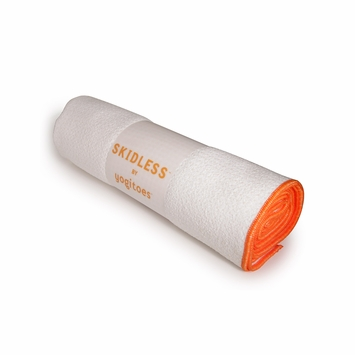 Yogitoes Skidless Yoga Towel in White (Crown)