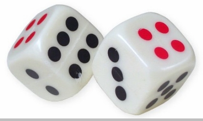 """1"""" Plastic Dice (Set of 6)<!-- Click to Enlarge-->"""