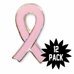 12-Pack Breast Cancer Lapel Pin