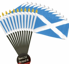 12 Pack of 4x6 Inch Scotland Flag (12 Pack)
