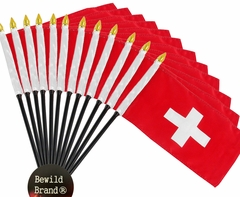 12 Pack of 4x6 Inch Switzerland Flag (12 Pack)
