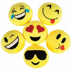 12 Pack of 5 inch Plush Assorted Emoji