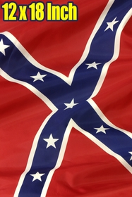 12 x 18 Inch Confederate Rebel Flag