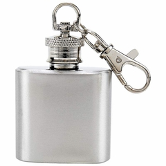 1oz Stainless Steel Keychain Flask