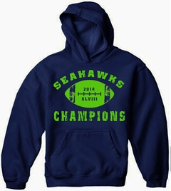 "2014 Seahawks ""The Big Game"" Champions Adult Hoodie"