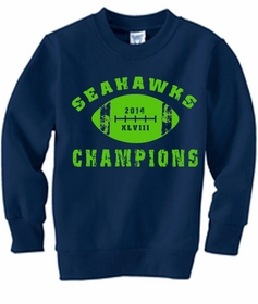 "2014 Seahawks ""The Big Game"" Champions Crewneck Sweatshirt"