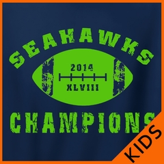 "2014 Seahawks ""The Big Game"" Champions Kids T-shirt"