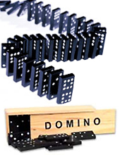 28pc Domino Set w/ Wood Box